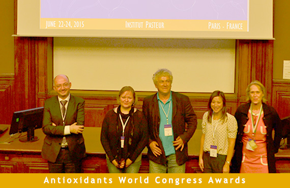 Pr Radman, Dr Lim and Dr Suvorova were awarded during Paris Redox 2015