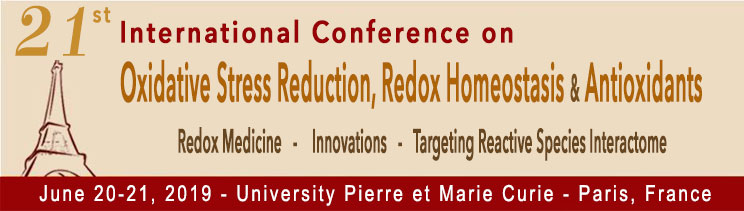 Final agenda of Paris Redox 2019 Congress / June 20-21, 2019 - Paris, France
