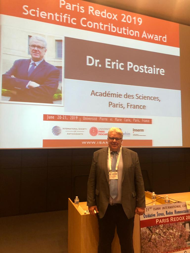 Dr. Eric Postaire has received the Scientific Contribution Award 2019